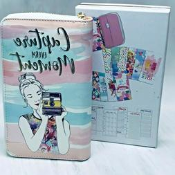Recollections 12 Month Undated Planner Zipper 6 Ring Binder