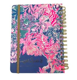 """Lilly Pulitzer 17 Month Harcover Agenda 9"""" Animal Lion Aug."""