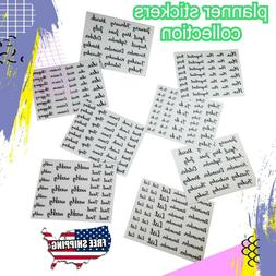 19 to 38 stickers per sheet transparent hand-written style p