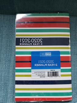 2 Year Striped Monthly Planner  by PaperCraft, New