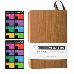 2018 Planner With No Date Design Academic Weekly Monthly Yea