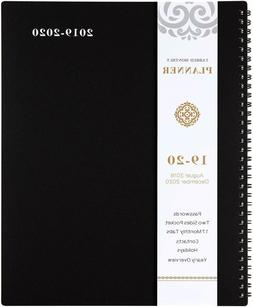 2019 - 2020 Monthly Planner - 17 Months w/ TABS & Pocket & L
