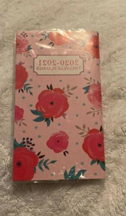 2020 2021 PLANNER PINK RED ROSE 2 Year small Pocket Purse Mo