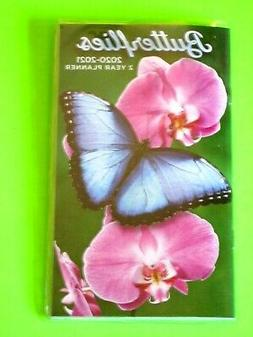 2020-21 2 Year 2 Yr BUTTERFLIES PLANNER FLOWERS Monthly Smal