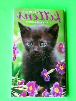 2020-21 2 Year 2 Yr PLANNER Cat Flowers Monthly Pocket Small