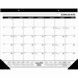 """2020 AT-A-GLANCE 22"""" x 17"""" Monthly Desk Pad Calendar  243458"""