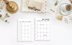 2020 Calendar Monthly Planner FITS Louis Vuitton Agenda LV S