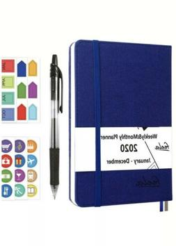 2020 Monthly And Weekly Planner By Feela. Blue Hardcover