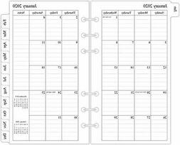 """2020 Monthly Planner Refill, 3-3/4"""" x 6 3-3/4"""" x 6-3/4"""" Mont"""