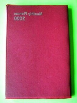 2020 PLANNER RED 1 year Monthly Calendar Small 5x7 Address E