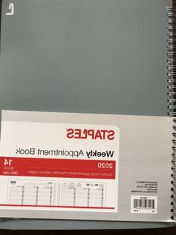 Staples 2020 Weekly Appointment Book Planner Quarter Hour 8X