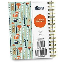 2021 Annual Planner by Bright Day, Yearly Monthly Weekly Dai