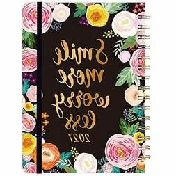 "2021 WEEKLY MONTHLY PLANNER 6.4x8.5"" FLORAL ROMANTIC DESIGN"