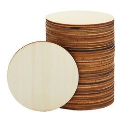 36-Pack Unfinished Round Natural Rustic Wooden Cutout Circle