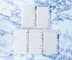 40 A6 Personal Planner Pages Inserts Refills Monthly Weekly