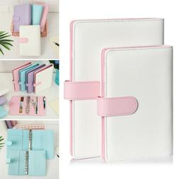A6 A5 Classic Loose Leaf Ring Binder Notebook Weekly Monthly