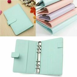 A6 Faux Leather Loose Leaf Notebook Weekly Monthly Planner D