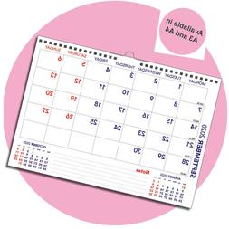 Academic Landscape Monthly Memo Calendar Year Planner Sep 20