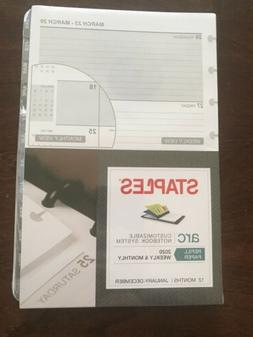 Staples Arc Refill Paper 2020 January- December Weekly & Mon