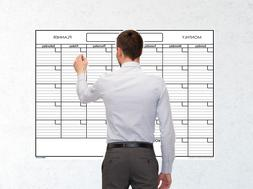 Large Blank Reusable One Month Wall Calendar Wet & Dry Erase