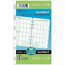 Monthly Classic Refill, 6 3/4 x 3 3/4, White/Green, 2019 871