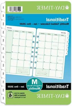 """Day-Timer 2020 Monthly Planner Refill, 5-1/2"""" x 8-1/2"""", Desk"""