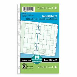 Day-Timer Monthly Classic Refill 6 3/4 x 3 3/4 White/Green 2