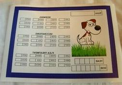 Dog Flea Treatment Worming Vaccination Reminder Planner Stic