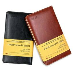 Faux Leather Cover 2020 Year Day Per Page Daily Planner and