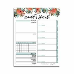 Floral Undated Weekly Family Calendar Planner Pad, Mom Month
