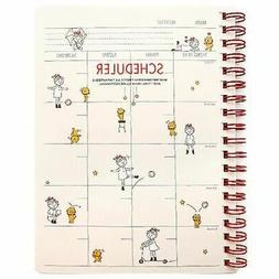 Girl with a Cat Monthly Weekly Planner Scheduler Diary