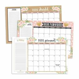 Gold Pink Chalk 2020-2021 Large Monthly Desk or Wall Calenda
