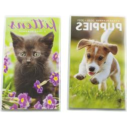 Kittens Cats Puppies Dogs 2020 2021 TwoYear Monthly Pocket M