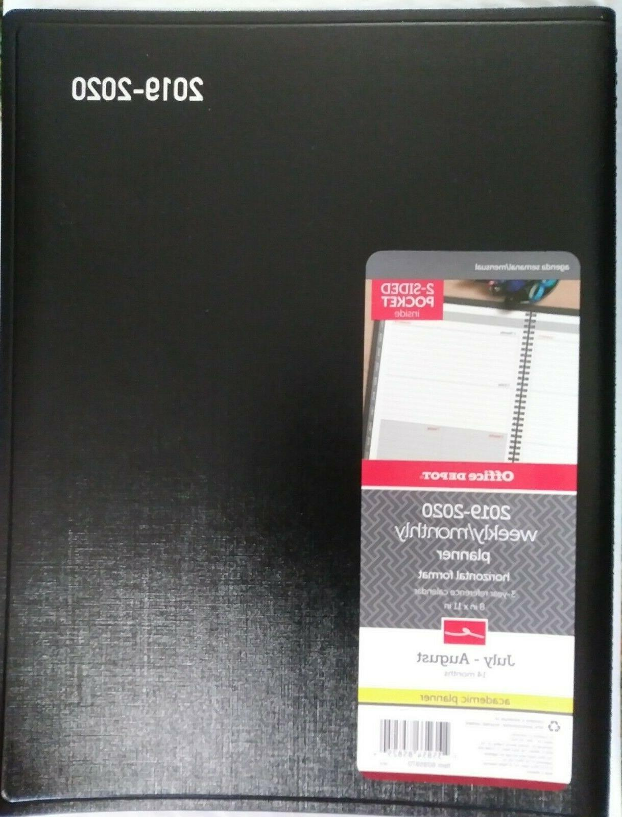 14 month weekly monthly academic planner 8