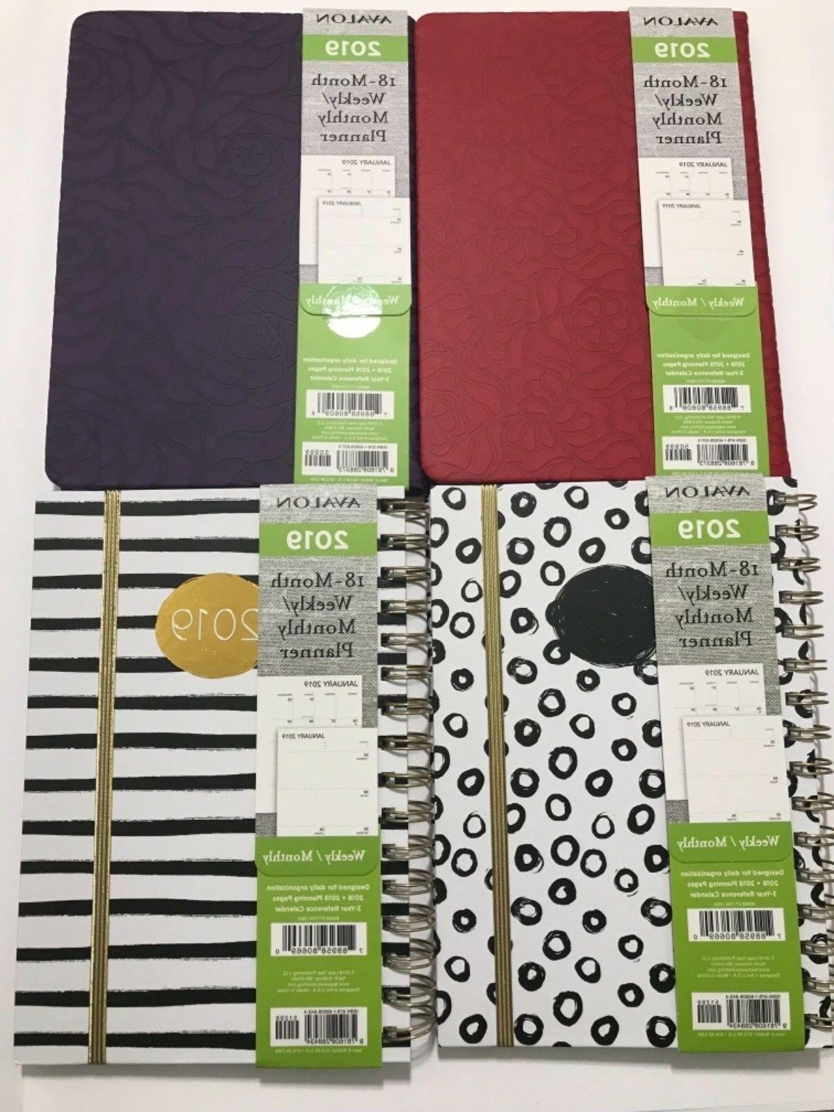 2019 18 month weekly monthly calendar planner