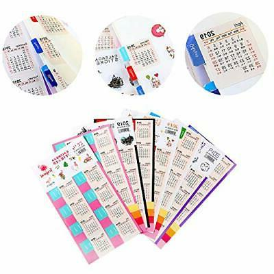 2019 monthly calendars stickers for journal planners