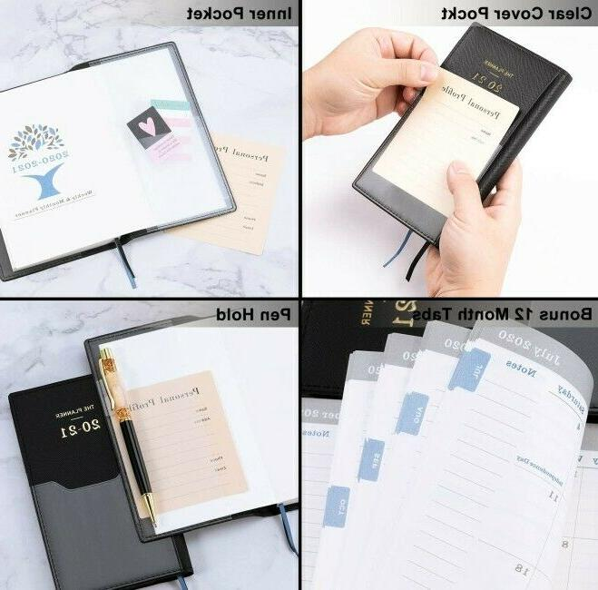 2020-2021 Planner Monthly Calendar Academic Notes Tabs Organizer