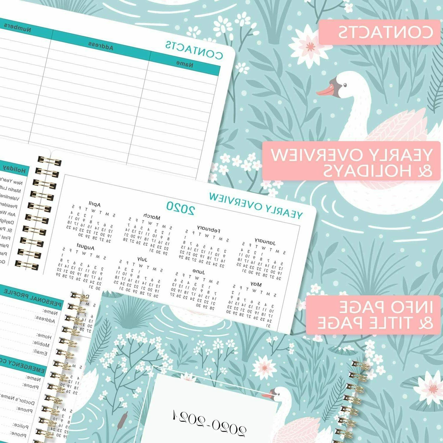 """2020-2021 Weekly & Monthly Planner with to-Do 8"""" x 10"""","""