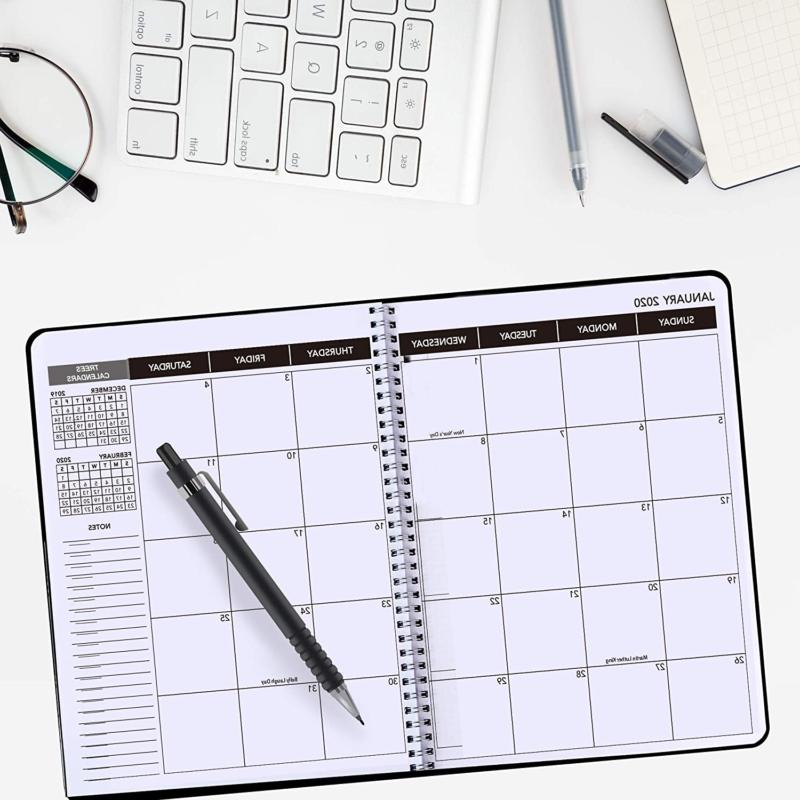 2020-2021 Planner Weekly Monthly Calendar Academic Tabs Notes