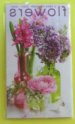 2020-21 2 Year 2 Yr PLANNER FLOWERS BOUQUET Monthly Pocket P