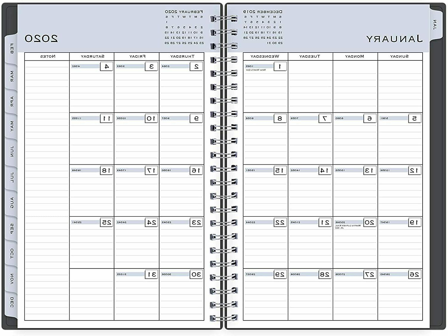 2020-21 Weekly Monthly Academic 5''x8''