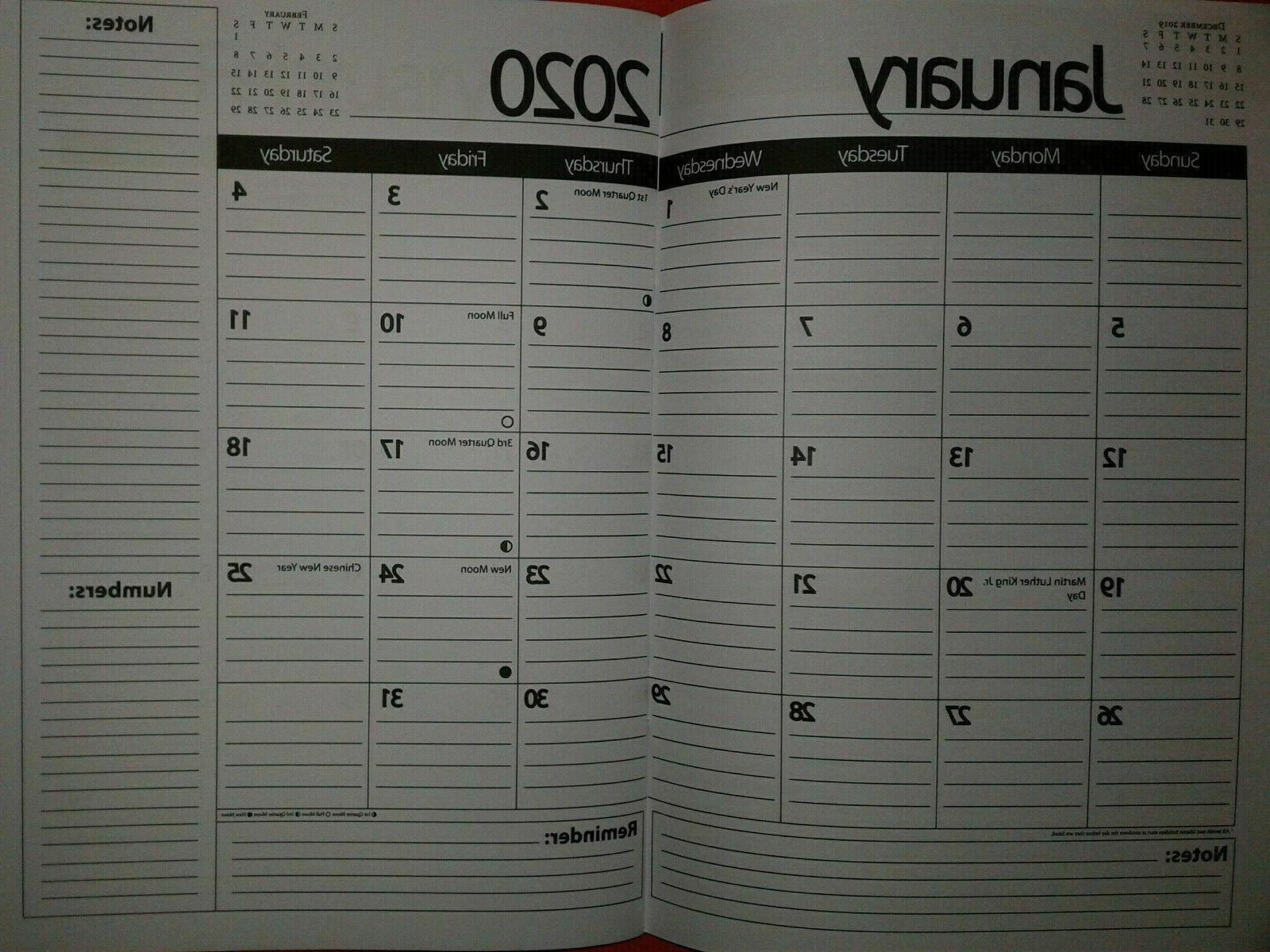 2020 monthly planner size 9 5x7 inch