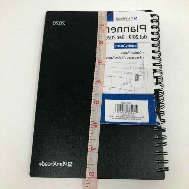 2020 Planner PlanAhead Monthly/Weekly Contact Resources/Notes Black