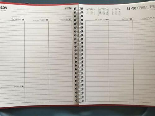2020 Planner Monthly Pages 17390-20 Red