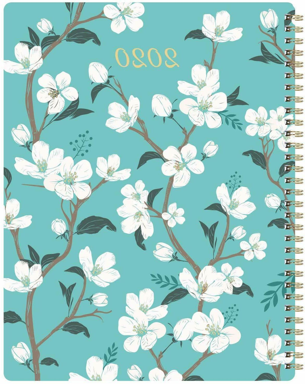 2020 Weekly & Monthly Planner Flexible Cover Twin-Wire Bindi