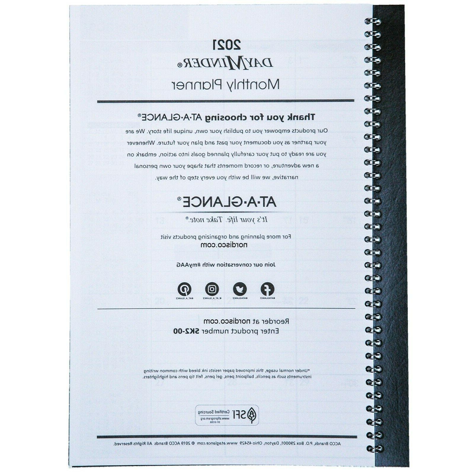"""2021 At-A-Glance SK2-00, Monthly Planner, 7-7/8 11-7/8"""""""