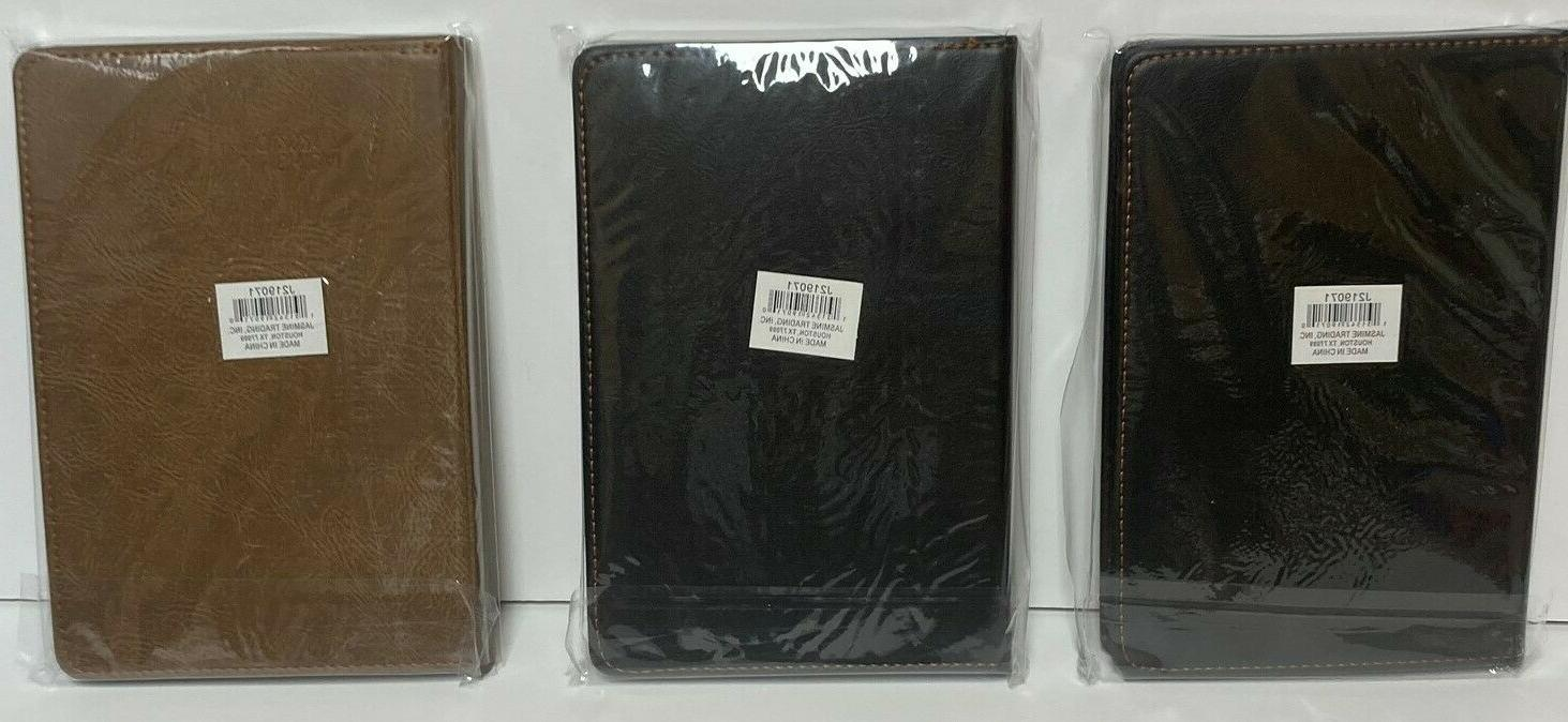 2021 Daily Monthly Notes Schedule Leather Color