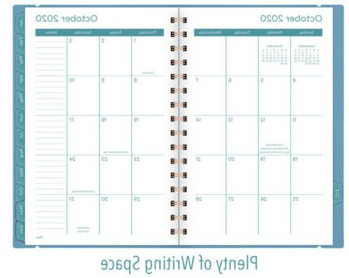 """Mead 2021 Planner, Turquoise , 1/2"""" x 8"""