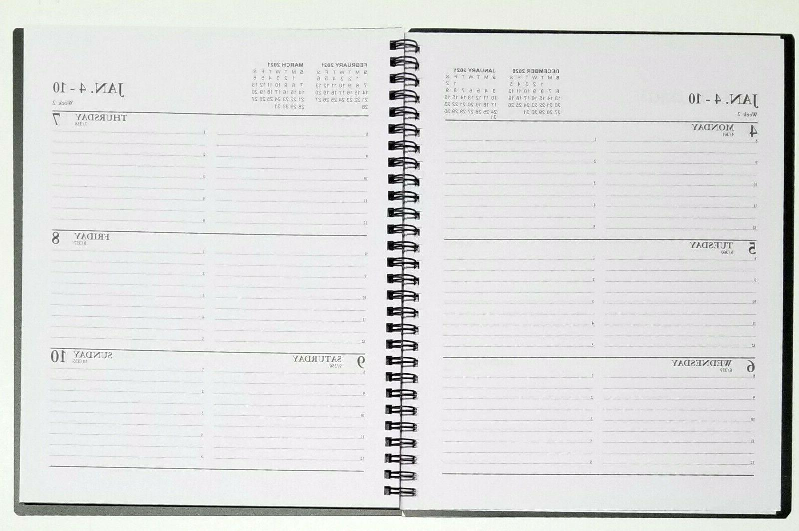 2021 Weekly/Monthly Spiral planner with durable Cover - x 10 in