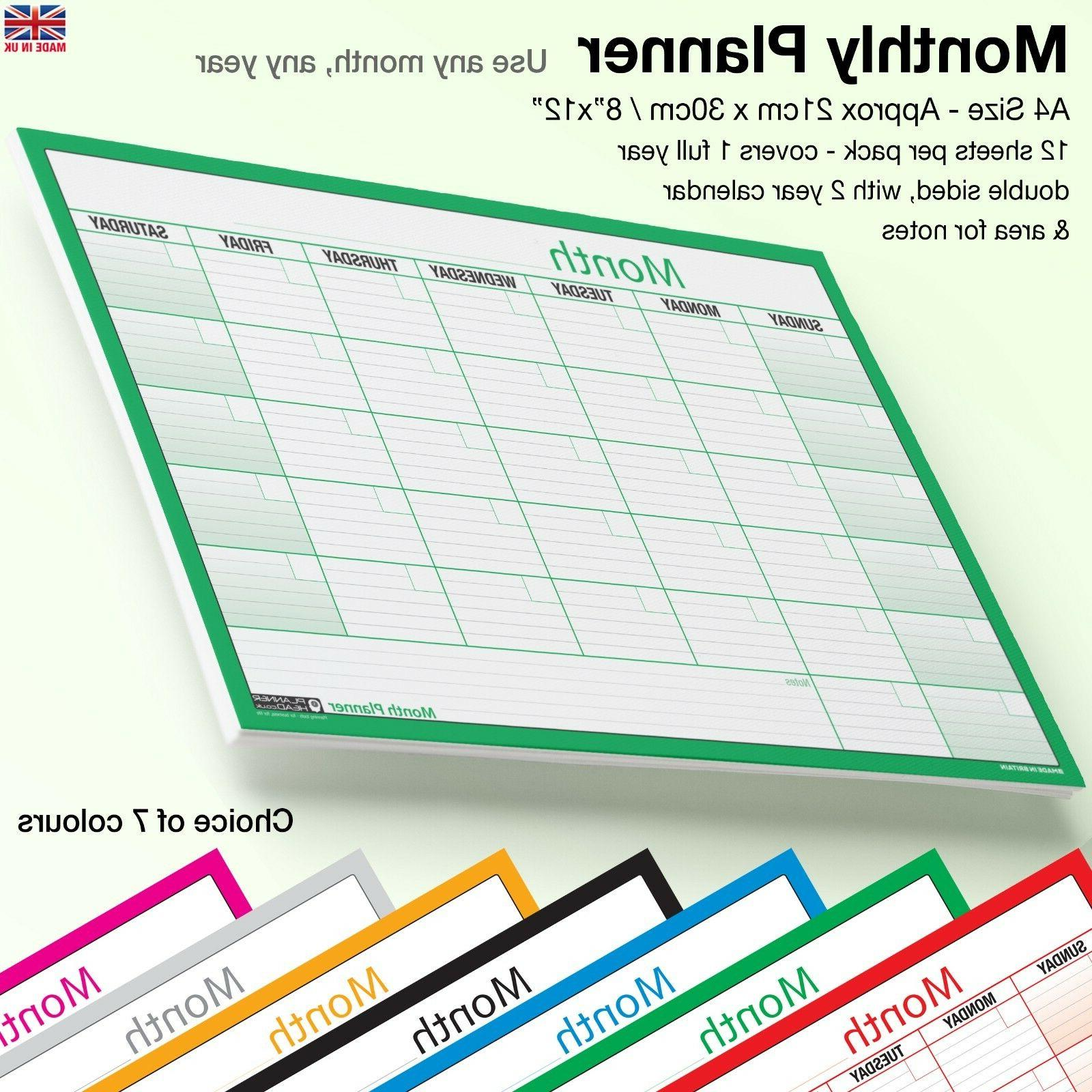 a4 month planner wall desk monthly planner